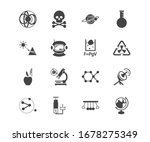 physics icon set and physical...