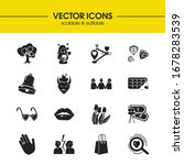 love icons set with gift bag ...