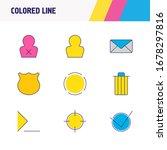 illustration of 9 ui icons...