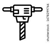 gasoline hammer drill icon.... | Shutterstock .eps vector #1678299766
