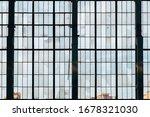 Old Broken Glass Windows At...
