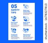 coronavirus safety tips. modern ...   Shutterstock .eps vector #1678327813