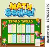 font design for word math...   Shutterstock .eps vector #1678328140