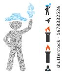 dash mosaic based on gentleman... | Shutterstock .eps vector #1678332526