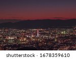 Kyoto Night City View From A...