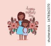 mother and daughter cartoon... | Shutterstock .eps vector #1678362370