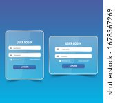 user log in form for website or ...   Shutterstock .eps vector #1678367269