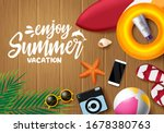 enjoy summer vector banner... | Shutterstock .eps vector #1678380763
