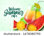 welcome summer fruits vector... | Shutterstock .eps vector #1678380790
