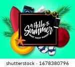 hello summer vector background...   Shutterstock .eps vector #1678380796