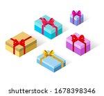 gift collection. vector... | Shutterstock .eps vector #1678398346