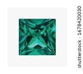 Diamond Created Emerald Shape...