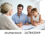 family meeting real estate... | Shutterstock . vector #167842049