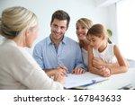 family meeting real estate... | Shutterstock . vector #167843633