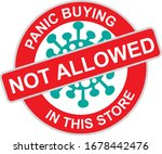 panic buying not allowed here... | Shutterstock .eps vector #1678442476