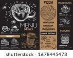 restaurant cafe menu  template... | Shutterstock .eps vector #1678445473