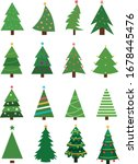 christmas trees collection.... | Shutterstock .eps vector #1678445476