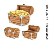 treasure chest  open  closed... | Shutterstock .eps vector #167845406
