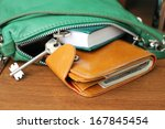 purse with money. women's... | Shutterstock . vector #167845454