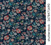 Multicolored Floral Background...