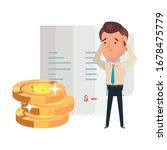 pile coins with businessman and ... | Shutterstock .eps vector #1678475779