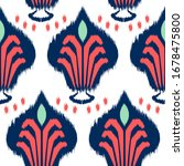 ikat seamless pattern design... | Shutterstock .eps vector #1678475800