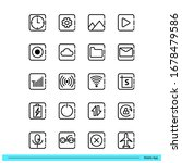 mobile app icon set for...