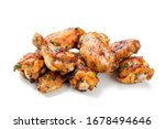 Baked Chicken Wings Isolated O...