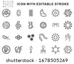 Set Of Bacteria  Icons Design...