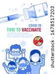 vaccinnate poster vector... | Shutterstock .eps vector #1678517203