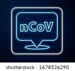 glowing neon line corona virus...   Shutterstock .eps vector #1678526290