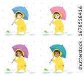 Cute Little Kids Wearing Yellow ...