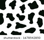 black white cow spots. cow...   Shutterstock . vector #1678542850