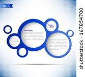 vector abstract bubble design... | Shutterstock .eps vector #167854700