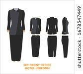 set front officer hotel uniform ...   Shutterstock .eps vector #1678547449
