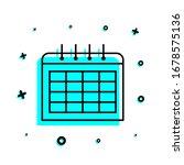 the calendar icon. simple thin...