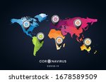 World Map With Coronavirus...