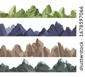 mountains pattern. rock hills...