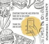 restaurant poster open only for ... | Shutterstock .eps vector #1678619479