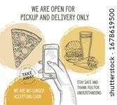 restaurant poster open only for ... | Shutterstock .eps vector #1678619500