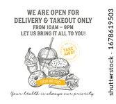 restaurant poster open only for ... | Shutterstock .eps vector #1678619503