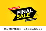 final sale banner  special... | Shutterstock .eps vector #1678630336