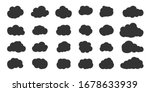 black clouds set. abstract... | Shutterstock .eps vector #1678633939