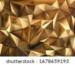 golden foil polygonal vector... | Shutterstock .eps vector #1678659193
