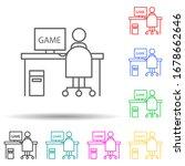 cyber player multi color set...