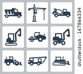 vector construction equipment... | Shutterstock .eps vector #167866334