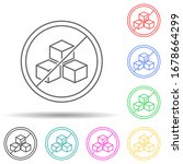sugar free multi color set icon....