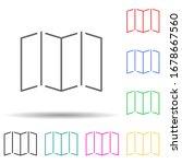 open card multi color set icon. ...