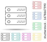 server multi color set icon....