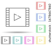 film multi color set icon....